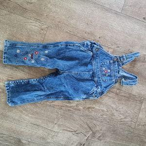 3/$12 Nevada Jean overalls girls 24m/2T